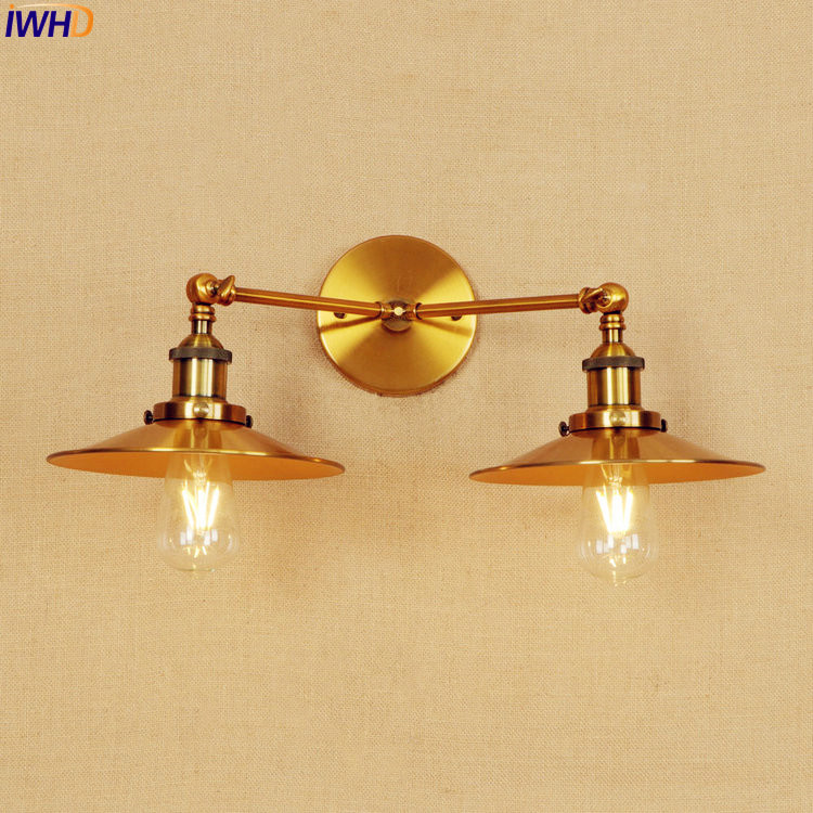 IWHD Gold Vintage LED Wall Lights Fixtures Home Lighting Adjustable Arm Industrial Wall Sconce Lamp Edison Wandlamp Luminaire brass glass wall lights led vintage edison american home stair lighting living room adjustable arm industrial wall lamp sconce