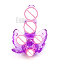 S-LOVE Silicone Adult Women G Spot Butterfly Dildo Vibrating Vibrator Massager Sex Toy