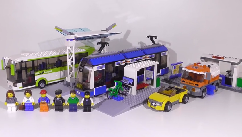 Image 3 - Blocks the Compatible Legoings City Public Transport Station Set Toys Building Bricks Bus Train Car Christmas gift for boy bith-in Blocks from Toys & Hobbies