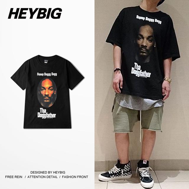 Homens Hip hop Rap Rua T-shirt curto-luva versão Dos Ganhos de Moda TEE HEYBIG costa Oeste Americana Hot vestuário Chinês dimensionamento!