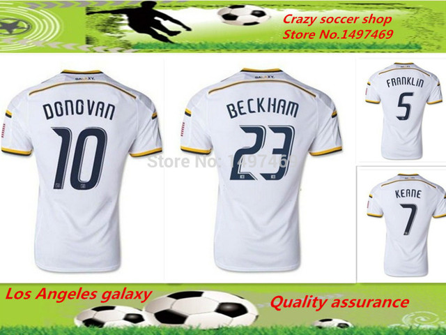 9da60fc9335 You Can Custom Name And Number Thailand Quality Soccer Jersey Player  version Camisetas Football 14 15 Los Angeles galaxy Jersey