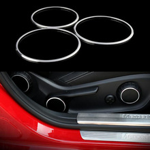 YAQUICKA 3x Aluminum Alloy Car Seat Adjust Button Switch Cover Circle Trim Ring For Mercedes Benz
