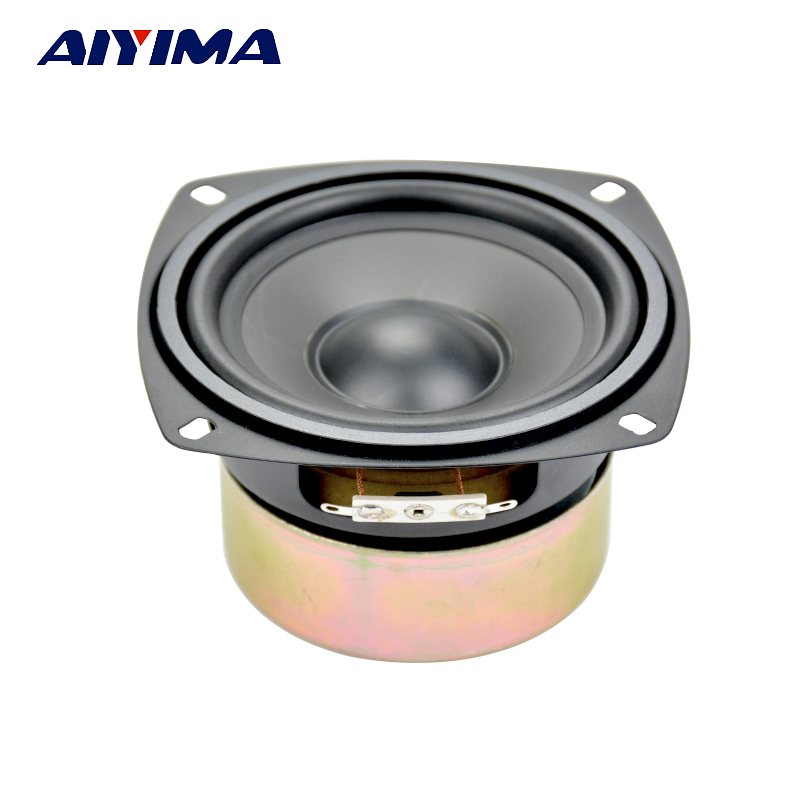 Aiyima 4Inch Woofer Audio Speakers 8Ohm 30W Fever Hifi Speaker Sound Bass Unit Leather Speaker цена 2017