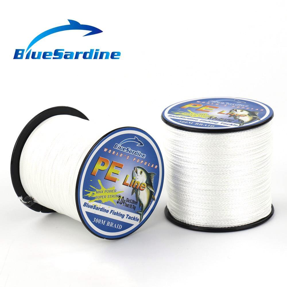BlueSardine 300M White Angelschnur Multifilament PE Geflochtene Super - Angeln - Foto 2