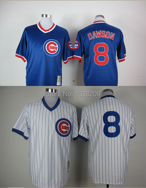 3bae24eb Cheap Chicago Cubs Jersey #8 Andre Dawson Jersey White/Blue Throwback Baseball  Jersey,Embroidery Logo