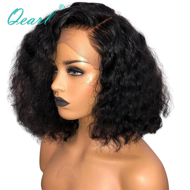 13x6 Short Bob Lace Front Wigs Human Hair Curly Brazilian Remy Hair Pre Plucked Baby Hairs