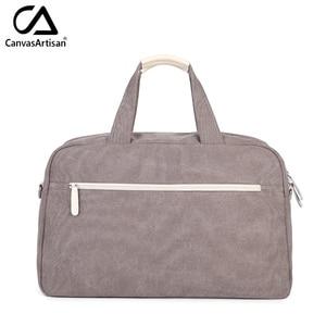 Image 3 - Canvasartisan brand new womens bloemen stijl hangbags grote capaciteit handbagage vrouwelijke multifunctionele reizen schouder draagtas