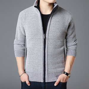 Image 5 - 2020 New Fashion Brand Sweater For Mens Kardigan Thick Slim Fit Jumpers Knitwear Warm Autumn Korean Style Casual Clothing Male