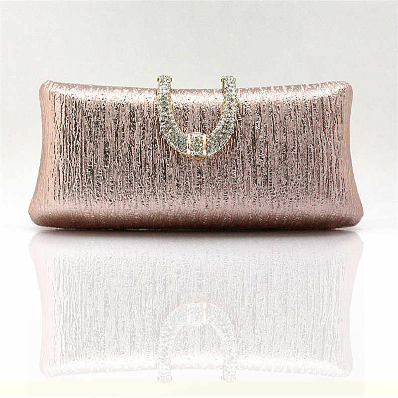 f0e44c0d83e Detail Feedback Questions about Ladies crystal diamond buckle rose gold  evening bag day clutch wedding bridal package marry bag small mini handbag  WY83 on ...