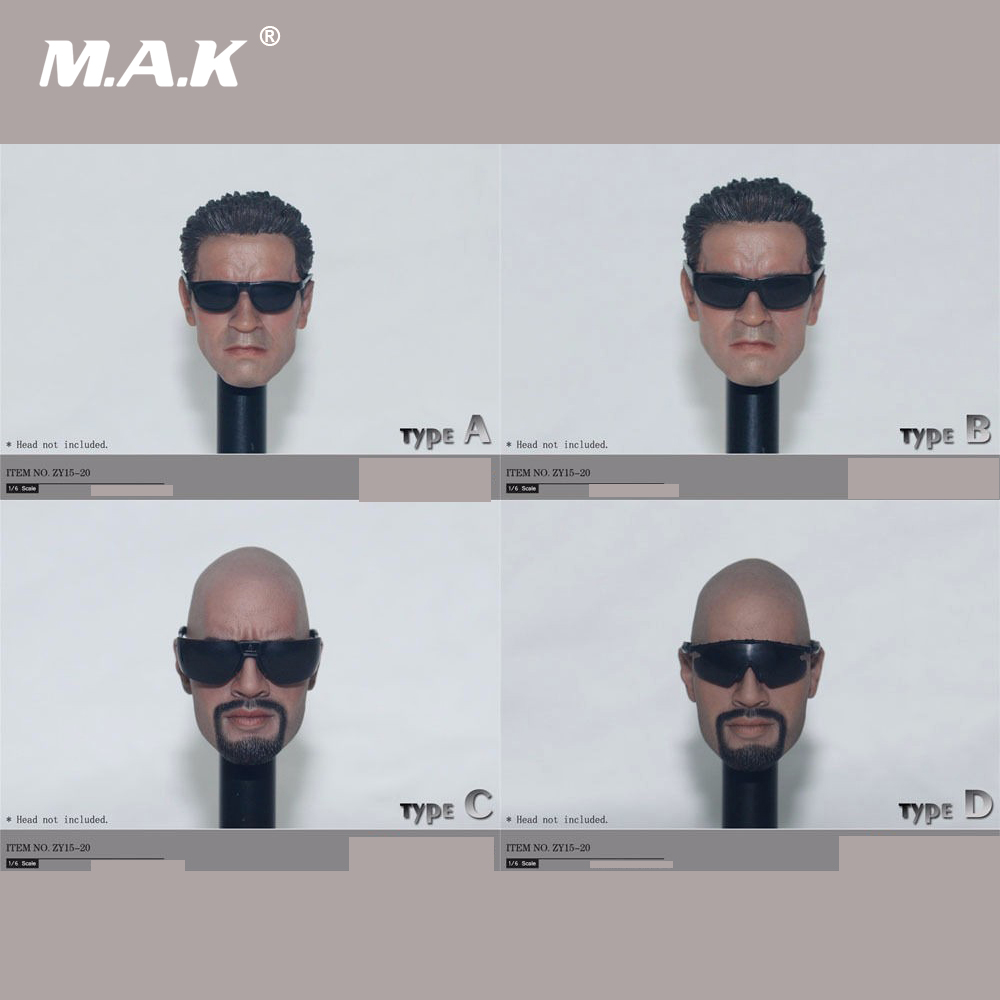 4 Pairs/Set 1/6 Scale Mens Black Sunglasses Set For 12 Inches Male Action Figures Bodies Dolls Accessories