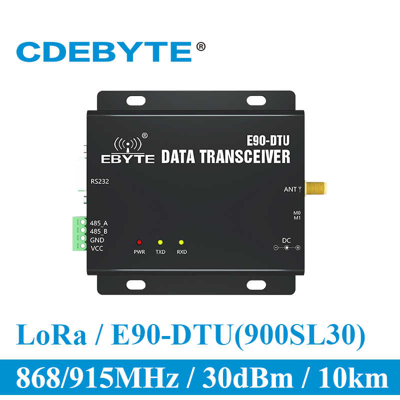 E90-DTU-900SL30 LoRa 30dBm Modem RS232 RS485 868MHz 915MHz RSSI Relay IoT Vhf Wireless Transceiver RF Transmitter And Receiver