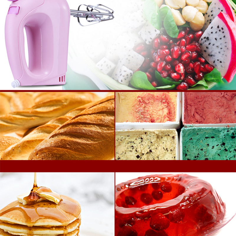 Electric whisk household with hand-held mini mixer baking and pastry cream machine bear 220 v hand held electric blender multifunctional household grinding meat mincing juicer machine