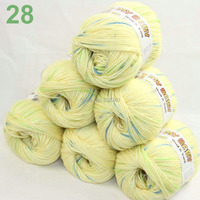 LOT Of 6 Skeins X 50gr DK Silk Wool Cashmere BABY Hand Knitting Yarn Yellow Blue