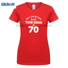 GILDAN 70th Birthday Gift Present Idea For Girls Dad Him Women T Shirt 70 Tee