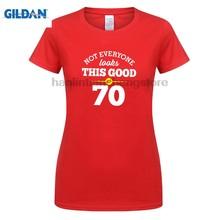 GILDAN 70th Birthday Gift Present Idea For Girls Dad Him Women T Shirt 70 Tee
