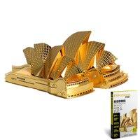 Vergadering Speelgoed 3D Puzzel Metalen Action Figure Grappige Gift Sydney Open Huis Building Kit Laser Cut Model Gift Toy Voor volwassen