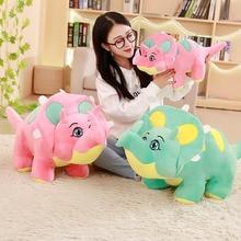 Cartoon Dinosaur Plush Toys Cartoon Triceratops Soft Doll Toy Animal Toys For Children Boys Baby Birthday Christmas Gift цена и фото