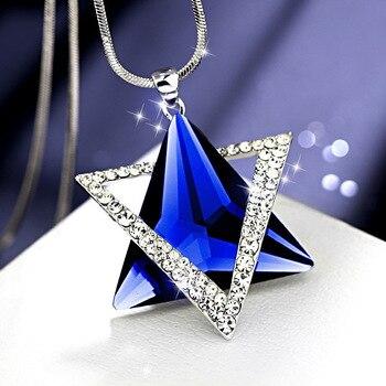 Magnifique collier de luxe sertie de strass Etoile de David  4