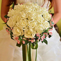 Wedding Bouquet  Hot Sale PE Artificial Bride Hands Holding Rose Flower Wedding Bridal Bouquet buque de noiva Free Shipping