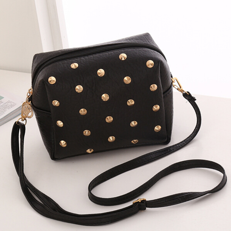 New 2019 Women Messenger Bags PU Leather Shoulder Cross Body Female Ladies Cute Rivet Mini Bag Handbags Bolsas Femininas