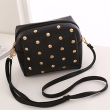 New 2019 Women Messenger Bags PU Leather Shoulder Cross Body Female Ladies Cute Rivet Mini Bag Handbags Bolsas Femininas women messenger vintage bags high quality cross body bag pu leather mini female solid shoulder bag handbags bolsas feminina