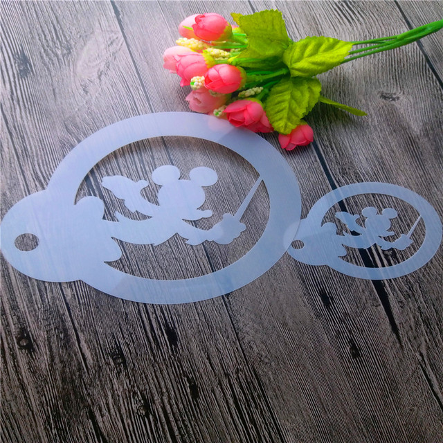 Size Mickey Mouse Scrapbooking Tool Card DIY Album Masking Spray Paint Template Cake Stencils Laser Cut