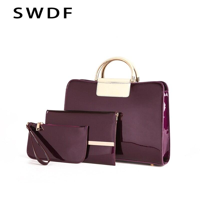 SWDF Women s Handbags Composite Bags Quality Oil Pu Women Messenger Bag High Quality Ladies Casual