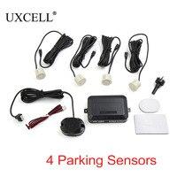UXCELL 4 Parking Sensors Car Reverse Assistance Backup Front Rear Buzzer Alert Alarm Kit Pearl White
