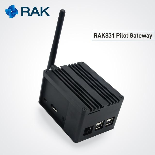 RAK831 Pilot Gateway SX1301+Raspberry Pi3+GPS with complete enclosure for professional demonstration set up