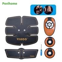 1 Set Povihome Wireless Muscle Stimulator EMS Stimulation Body Slimming Abdominal Exerciser Training Device Body Massager