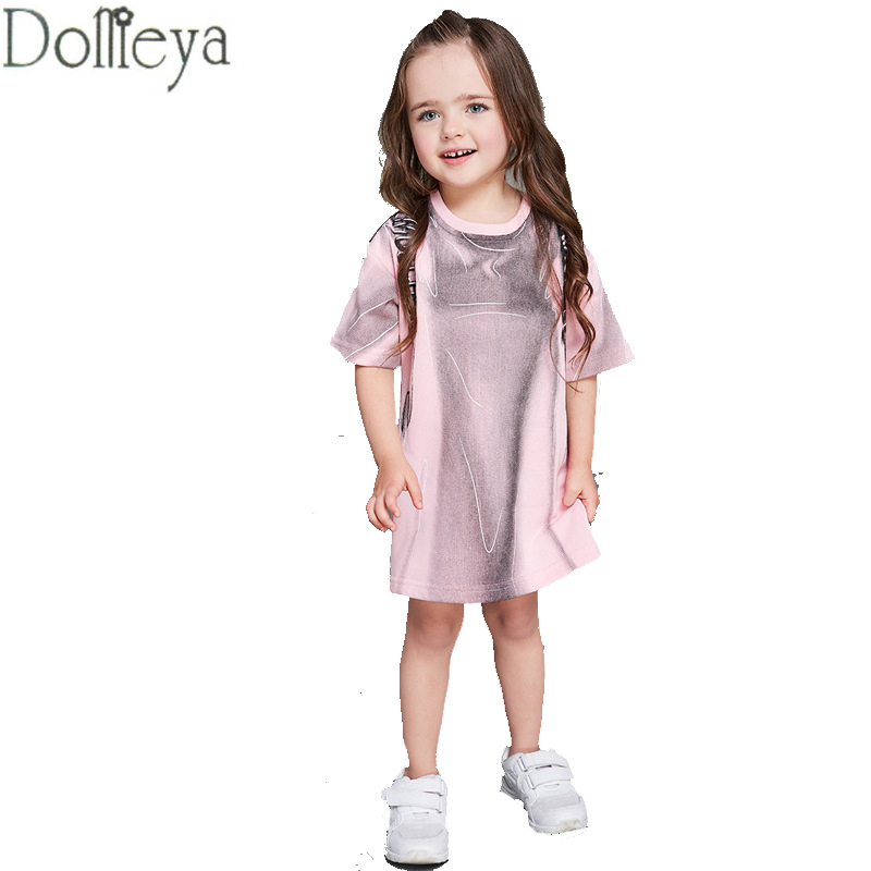 Mother and daughter dresses family matching cloths 2017 spring summer kids gilrs print short sleeve clothing for baby pink 2016 spring family fashion clothing half sleeve elegant floral print dress clothes for mother and daughter baby girls dresses