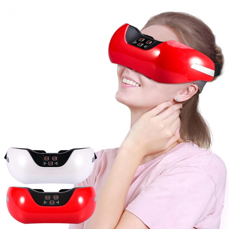 USB Rechargeable 3D Électrique Vert Lumière Eye Massager Fatigue Tête Stress Relief Myopie Traitement Acupuncture Eye Massager Relax
