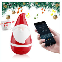 New Christmas Gift Wireless Bluetooth Touch Speakers Roly-poly Christmas Claus Free Shipping H3T5