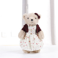New Lovely Stuffed Toys Kawaii Teddy Bear Plush With Cloth Soft Plush Toys Kids Toys For Girls Birthday Gift