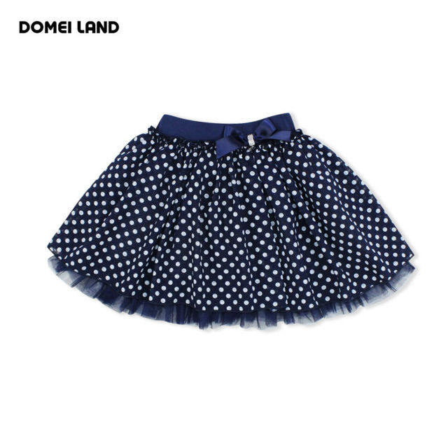 2016 Fashion Summer brand clothing Children girls Cute baby kids print bow Dot Tutu cotton Skirts Chiffon party princess Skirt
