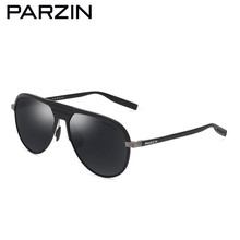 PARZIN Sunglasses Men Brand Designer Vintage Aviation Polarized Male Sun Glasses Driving Sunglasses Shades With Case 8133