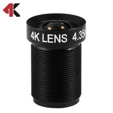 4 35MM Lens 1 2 3 Inch 10MP HFOV 72D Flat 4K Lens for Go pro