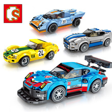 Kids DIY Assembling Blocks Toys Racers Series Speed Champions Compatible Legoed Car Blocks Racing Building Brick Children Gifts цена