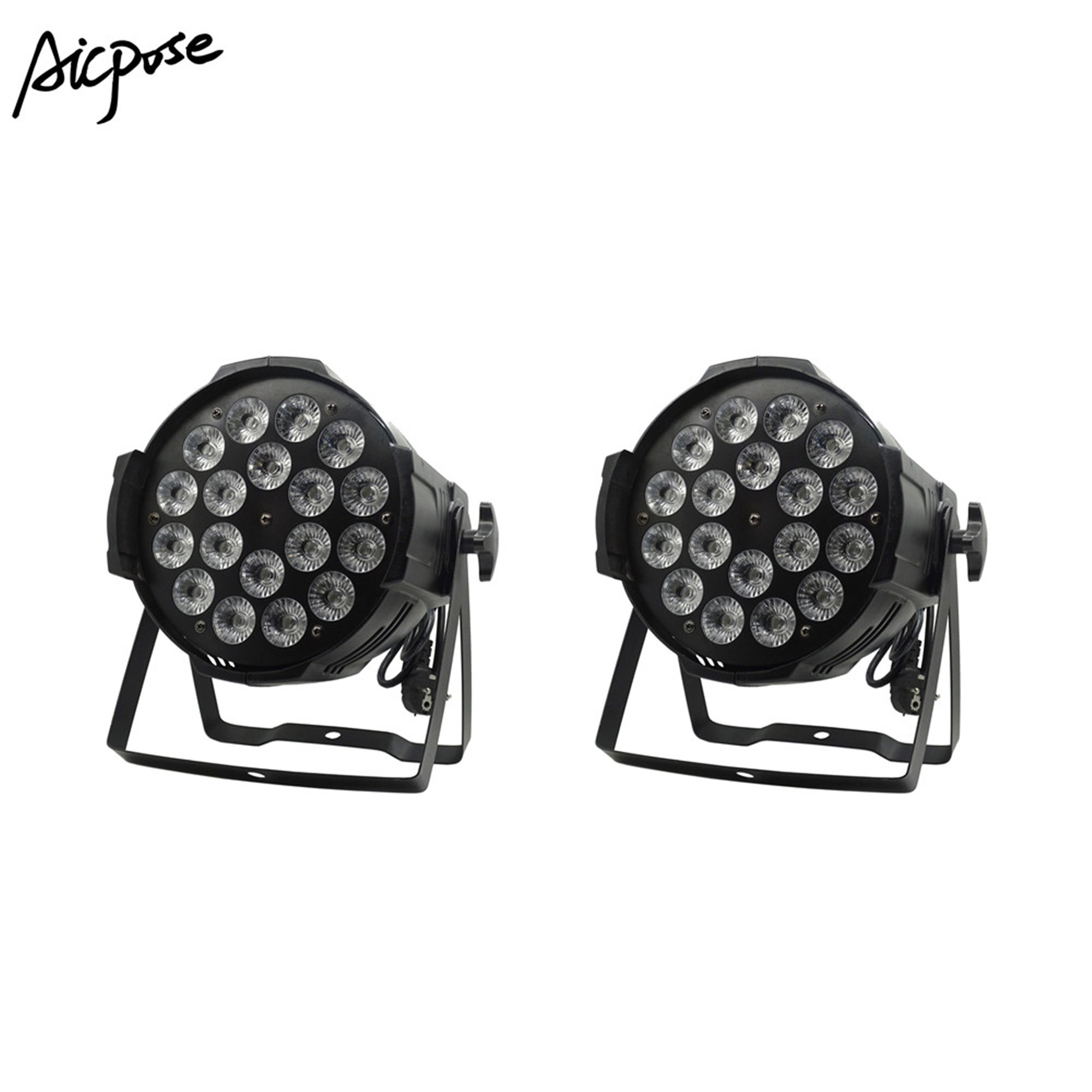 18*12w Light Aluminum LED Par 18x12W RGBW 4in1 LED Par Can Par 64 Led Spotlight Dj Projector Wash Lighting Stage Light