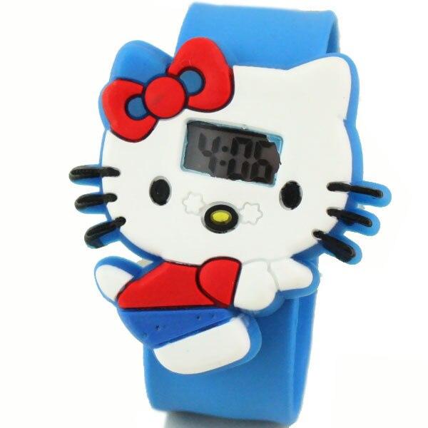 Ciao del fumetto del Gattino carino per bambini orologi elettronici produttori del commercio all'ingrosso offerta speciale studente ragazze bambini orologio