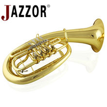 JAZZOR JYEU-E110G Профессиональный euphonium B плоский золотой лак латунный духовой инструмент с мундштуком и чехол