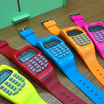 NOYOKERE Colorful Digital Calculator With LED Watch Function Casual Silicone Sports For Kids Children Multifunction Calc
