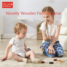 8pcs Baby Magnetic Fishing Toy Parent-child interactive Toys Wooden 3D Fish Game Set Kids Bath Toys Outdoor Toys for 1-3 years недорого