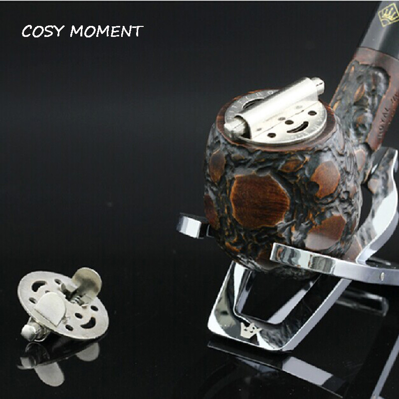 COSY MOMENT 1PC Metal Tobacco Smoking Pipe Lid Adjustable Spring Loaded Smoking Pipe Cap Cover Tool YJ289