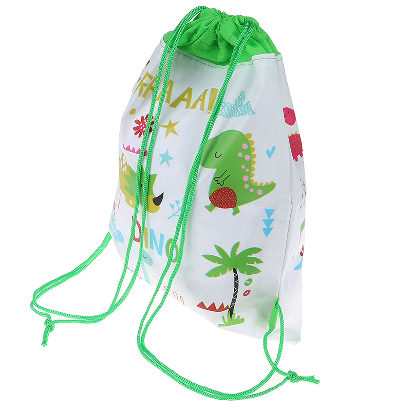 5PCS Cartoon Dinosaur Drawstring Bags Backpack Children Organizer Pouch Baby Clothes Clothings Laundry Bag