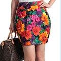 free shipping Spring and summer all-match women's involucres broken bust skirt red mid waist skirt step flower short skirt