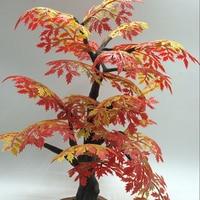 Artificial Flowers 33cm High Diy Autumn Banyan Model Simulation Decoration Tree Leaves Children Plant Artificial Moss Suits