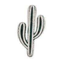 Cute Crystals CZ Cubic Zirconia Cactus Brooch Pins Broach Pendant Women Dress Bag Accessories