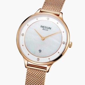 Image 3 - Nesun Vrouwen Horloges Top Luxe Merk Japan Import Quartz Parel Relogio Feminino Klok Diamond Horloges N8805 1
