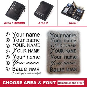 Image 5 - KAVIS rfid Smart Wallet Genuine Leather with alarm GPS Map Bluetooth Black Men Purse High Quality Design Wallets Free Engraving
